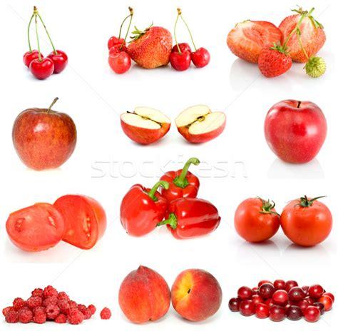 imagenes de verduras rojas set of red fruits berries and vegetables stock photo