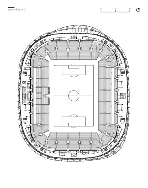 metlife stadium floor plan willmote allianz rivera wilmotte associ 233 s sa archdaily