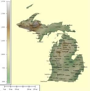 Michigan Topographic Map by Michigan Topographic Maps
