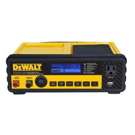 battery charger home depot dewalt batteries chargers jumper cables automotive