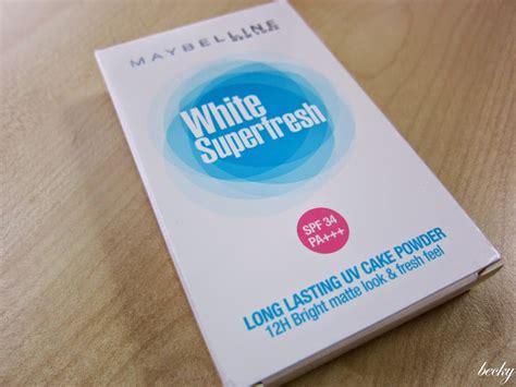 Maybelline White Superfresh Uv Whitening Lasting Murah review maybelline white superfresh uv cake powder