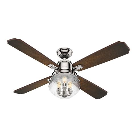 seeded glass ceiling fan seeded glass led ceiling fan with light polished nickel