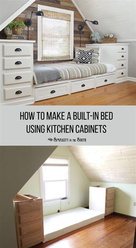 built  bed  kitchen cabinets build