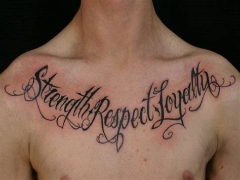 tattoo chest words 35 unique word tattoos for men