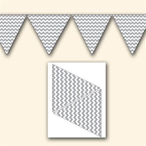 printable chevron banner gray chevron baby shower birthday wedding party