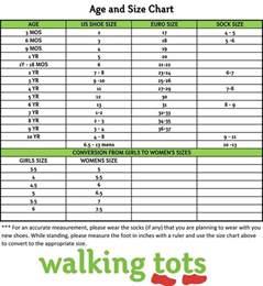 kid shoe sizes chart age shoe size chart shoe size