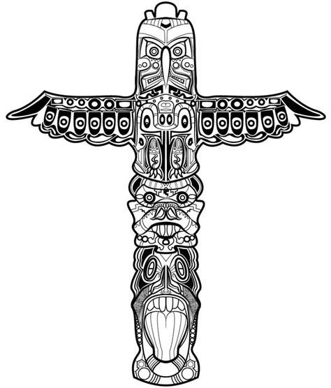totem tattoo designs tom huxley totem pole design drawing