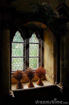 medieval window royalty  stock photo image