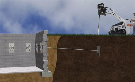 anchoring foamboard to concrete wall bowed walls bowed basement walls bowed foundation walls