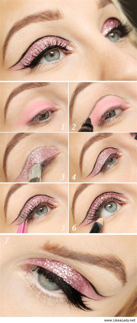 tutorial eyeliner glitter a collection of 30 best glitter makeup tutorials and ideas
