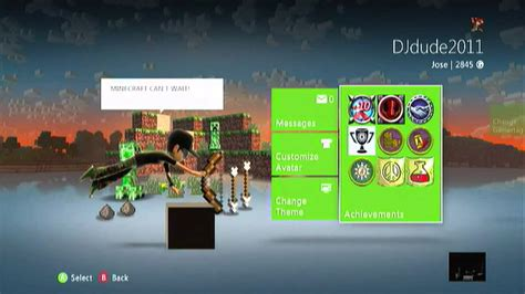 changer themes xbox 360 minecraft xbox 360 a look at the minecraft iron theme