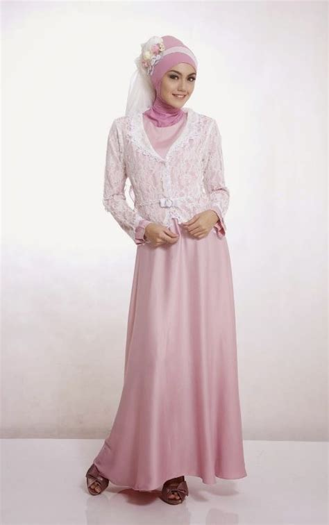 desain dress muslim remaja model busana gaun pesta muslim remaja model busana