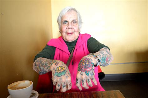 old lady with tattoos check out this 82 year s tattoos