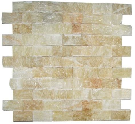 honey onyx split 1x2 mosaic tile for kitchen