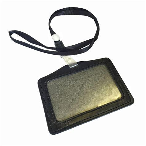 Lanyard Id Card Holder 5 horizontal id badge card pocket holder with lanyard