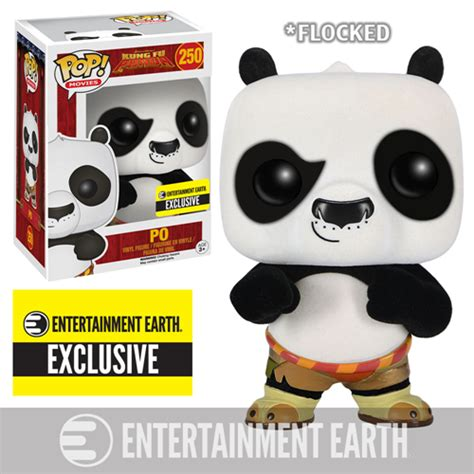 Kung Fu Panda 1 Tim Kung Fu kung fu panda flocked po pop vinyl figure ee exclusive