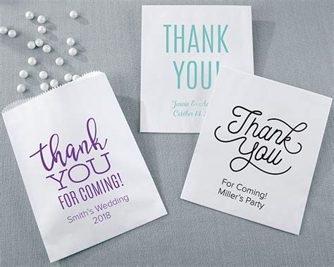 thank you note wedding gift bag personalized thank you white goodie bag set of 12 my