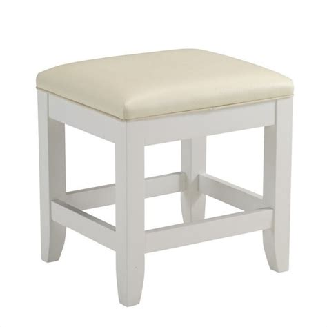 vanity stool bench vanity bench in white finish 5530 28