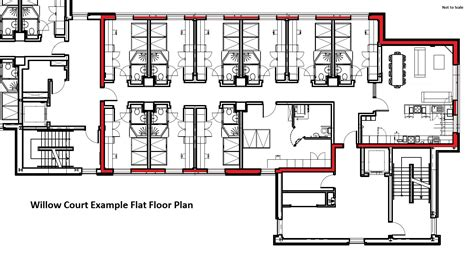Apartment Floor Plans With Dimensions by Willow Court University Of Stirling
