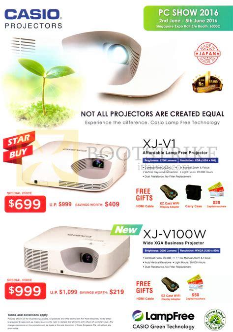 Projector Casio Xj V100w casio projectors xj v1 xj v100w pc show 2016 price list