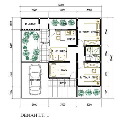 rumah mungil di lahan 10 x 10 m2 eramuslim