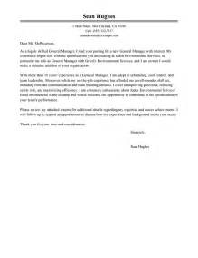Sles General Cover Letters by General Manager Cover Letter Exles Management Cover Letter Sles Livecareer