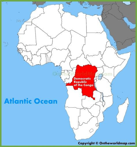 africa map congo democratic republic of the congo location on the africa map