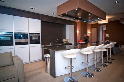 caisson ilot cuisine pur cuisine moderne ilot centrale dcor with