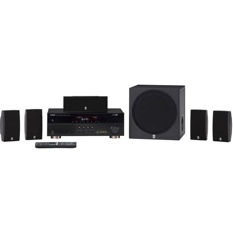 yamaha 5 1 channel home theater in a box system yht 493bl b h