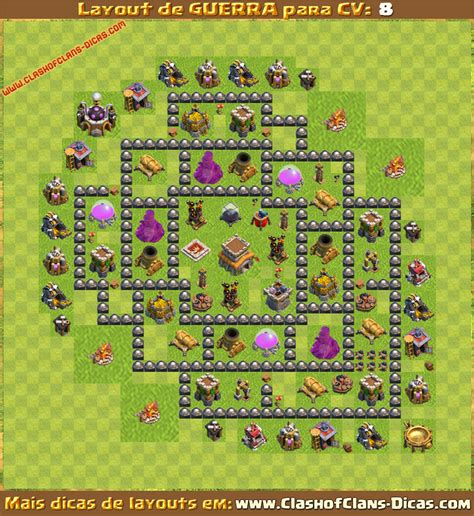 layout cv 8 cv8 th8 war base clash of clans layout car interior design