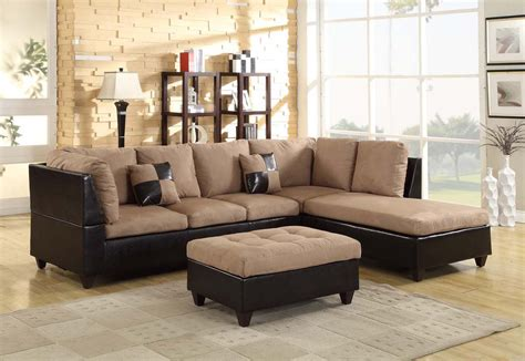 contemporary two tone sofa sectional set