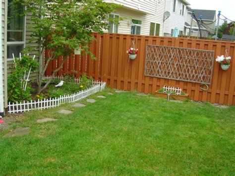 fencing a backyard backyard fencing ideas marceladick com