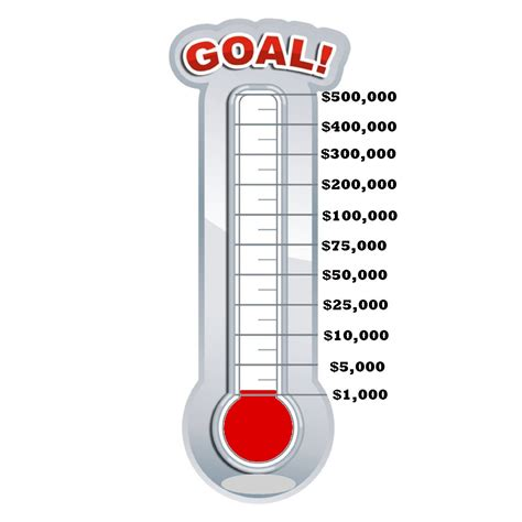fill in thermometer template 13 fill in thermometer goal vector images fundraising