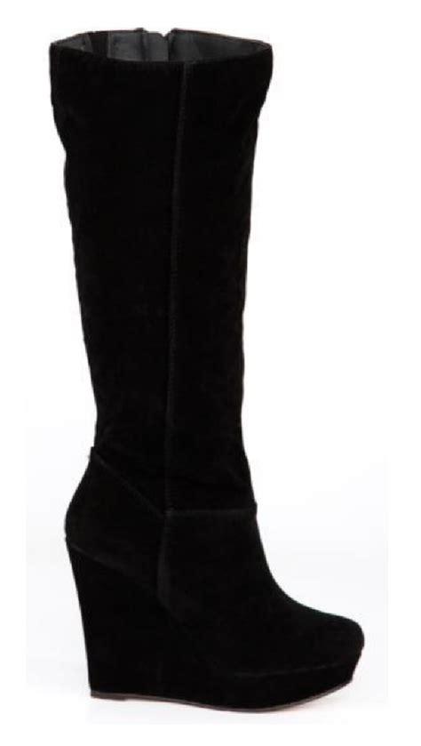boot wedges trendy womens fashion wedge heel black khaki trendy boots