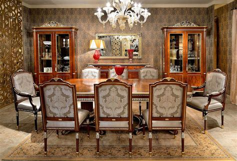 Classic Italian Dining Room Furniture Royalty Dining Table Collection Classic Dining