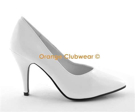 size 9 high heels wide fit pleaser 4 quot high heels white pumps bridal wedding wide