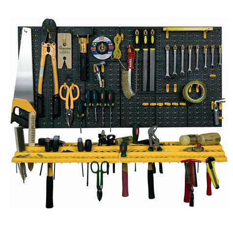Garage Tool Rack Wall Workshop Storage Kit Plastic