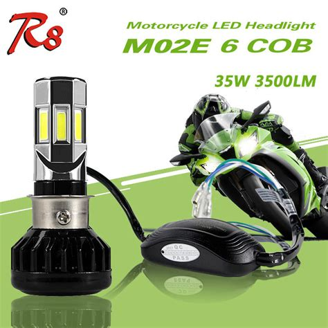 Promo Led 6 Sisi H6 H4 35w Rtd 6 Mata Rayton Led Motor 3500lm rtd most popular universal type motorcycle led headlight bulb m02e h4 hs1 ba20d p15d h6 3500lm