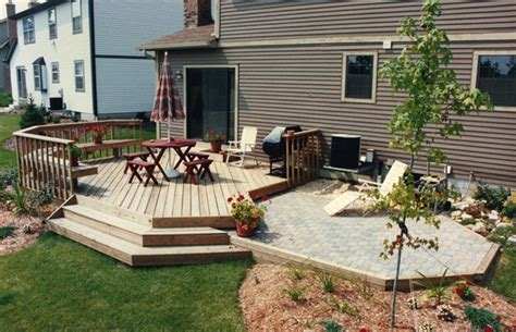 backyard patios and decks contractors of central ohio gallery