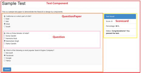 reactjs layout component reactjs step by step tutorial on quiz development