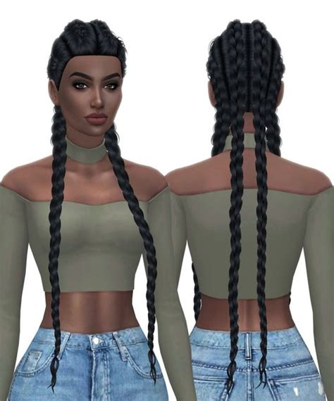 sims 4 cc black hairstyles hallowsims nexus hair retexture at kenzar sims sims 4