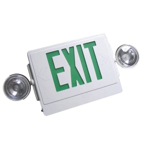 Lu Emergency Exit Led remote capable white with green letters thermoplastic 120