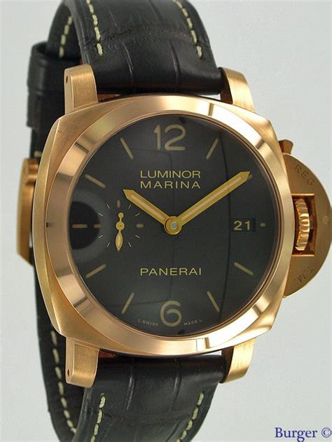 Replika Panerai Luminor Marina Pam 393 Gold luminor marina 1950 3 days gold pam 393 panerai juwelier burger in maastricht