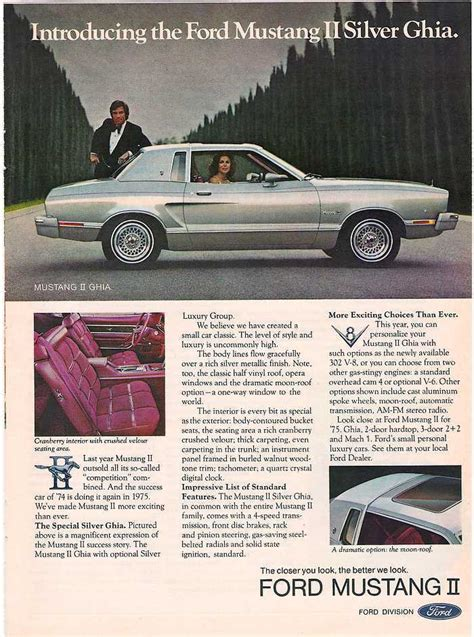 car manuals free online 1974 ford mustang auto manual 1974 ford mustang ad 01