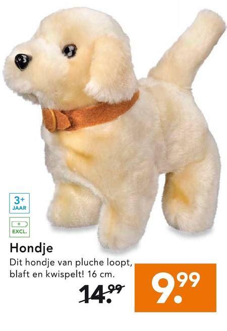 speelgoed hond die loopt en blaft loophondje folder aanbieding bij blokker details