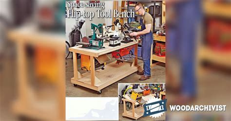 flip top tool bench 1037 flip top tool bench plans woodarchivist