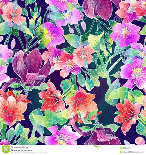 printable tropical flowers tropical flower pattern google search pattern and
