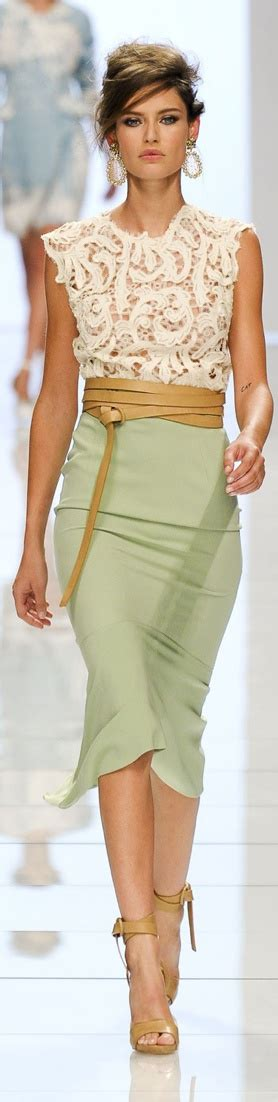 Pastel Blouse Biyanca ermanno scervino 2012 runway pictures pastel mint skirt and style