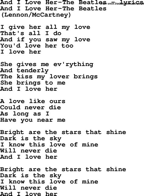 images of love lyrics love song lyrics for and i love her the beatles