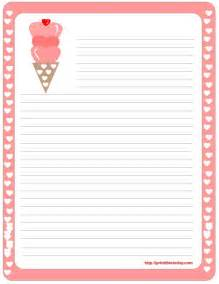 Printable Letter Writing Paper Free Border For Writing Paper Free Printable Valentine